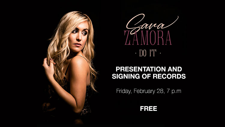 Sara Zamora, presentation and signing of records at Cartagena